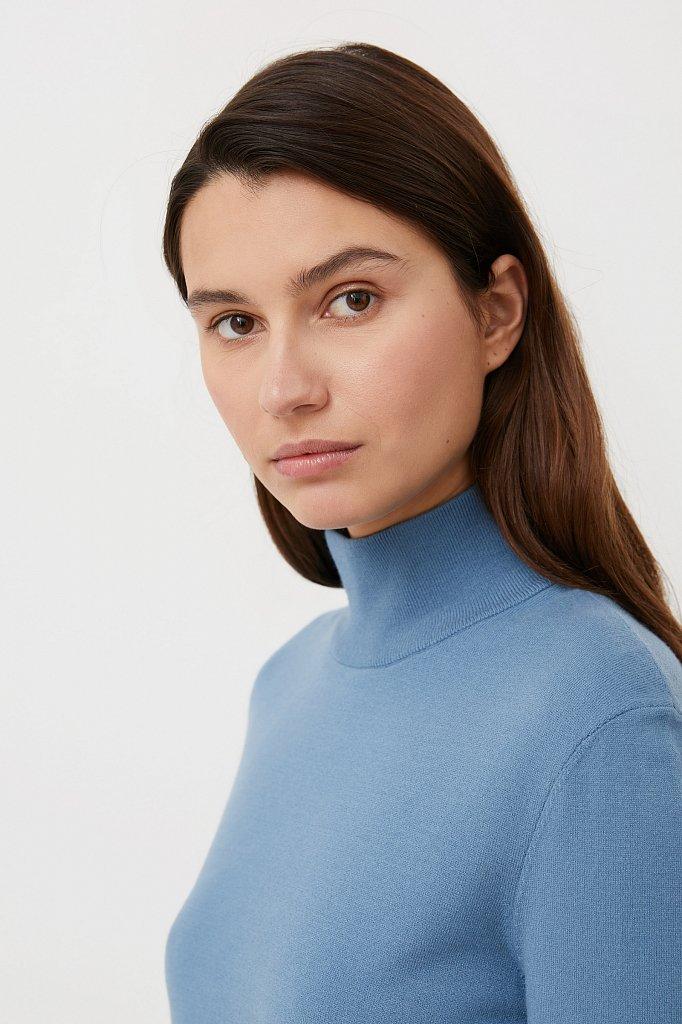 Базовая женская водолазка прямого силуэта, Модель BAS-10107, Фото №6