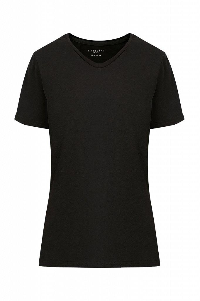 Базовая футболка с V-образным вырезом, Модель BAS-10011, Фото №6