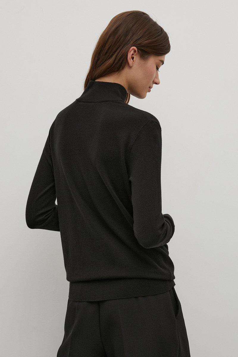 Базовая женская водолазка прямого силуэта, Модель BAS-10107, Фото №4