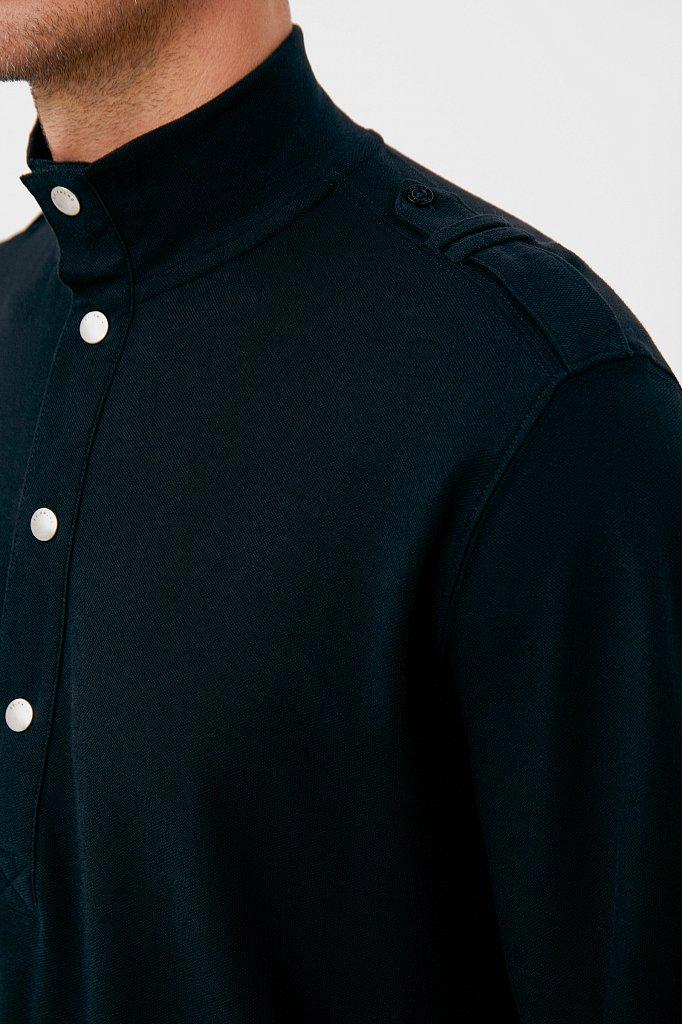 Базовый мужской лонгслив из натурального хлопка, Модель BAS-20031, Фото №5