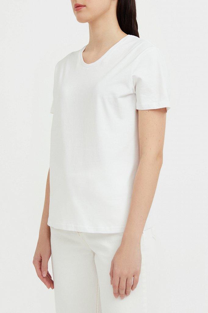 Базовая футболка с V-образным вырезом, Модель BAS-10011, Фото №3