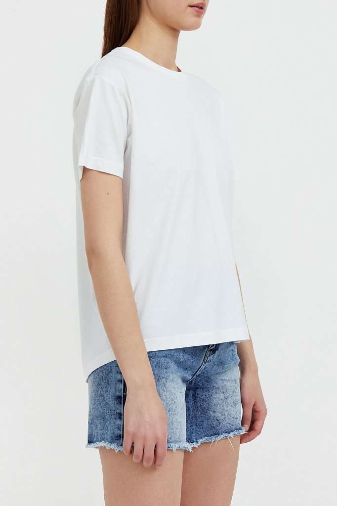 Базовая футболка с круглым вырезом, Модель BAS-10012, Фото №3