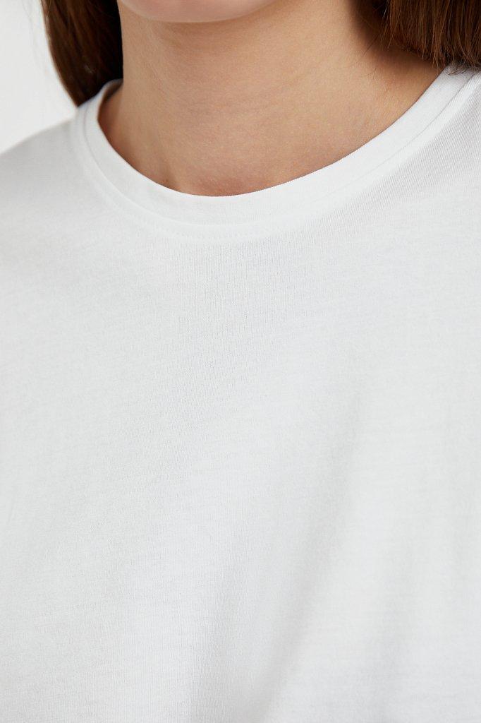 Базовая футболка с круглым вырезом, Модель BAS-10012, Фото №5