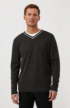 Базовый мужской пуловер прямого силуэта BAS-20106