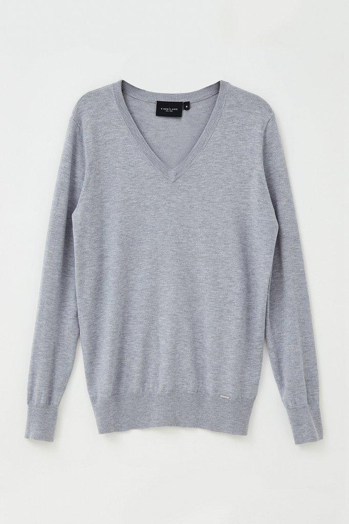 Базовый женский пуловер прямого силуэта с шерстью, Модель BAS-10106, Фото №7