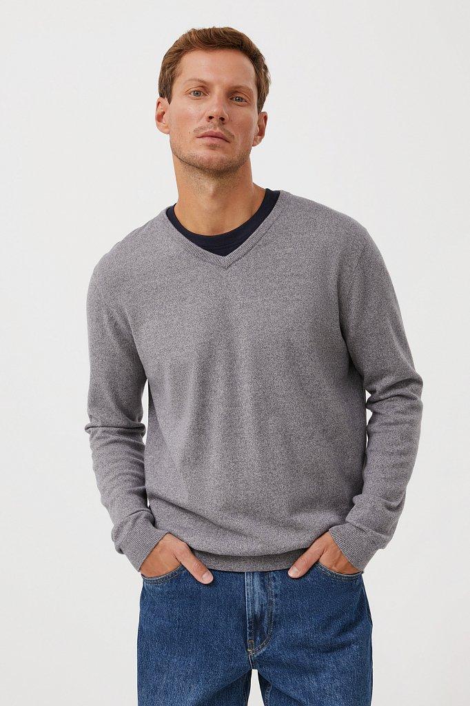 Базовый мужской пуловер прямого силуэта, Модель BAS-20101, Фото №1