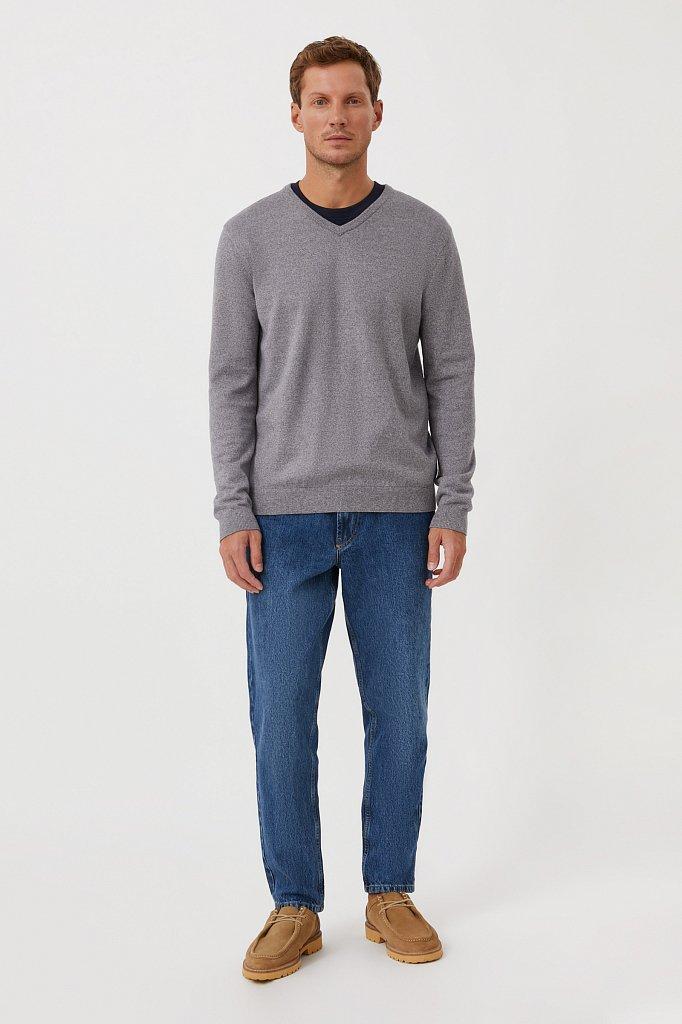 Базовый мужской пуловер прямого силуэта, Модель BAS-20101, Фото №2
