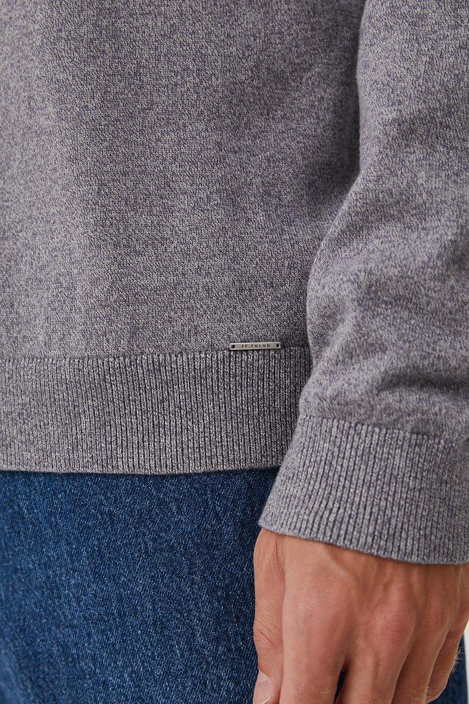 Базовый мужской пуловер прямого силуэта, Модель BAS-20101, Фото №5
