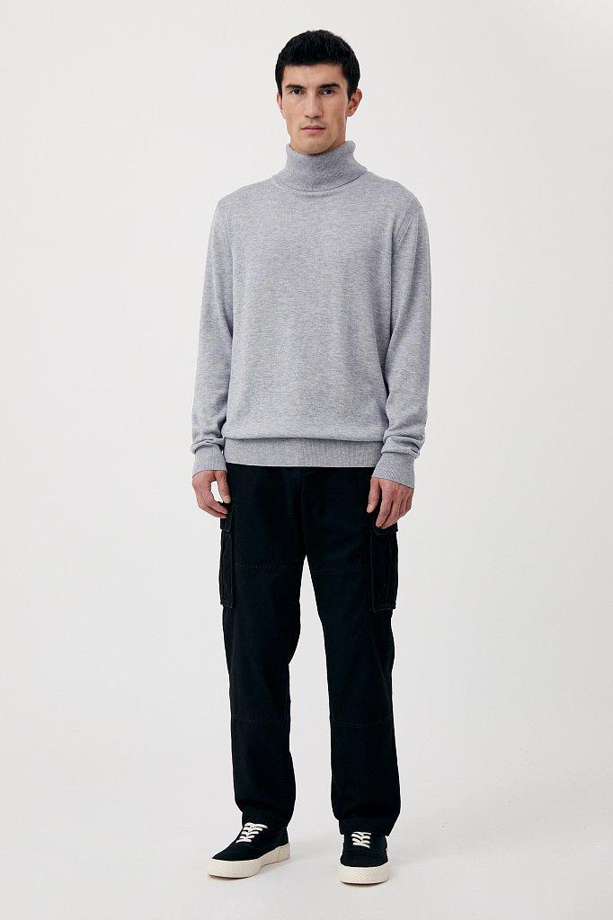 Трикотажная мужская водолазка прямого силуэта, Модель BAS-20105, Фото №2