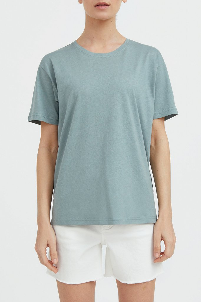Базовая футболка с круглым вырезом, Модель BAS-10012, Фото №1