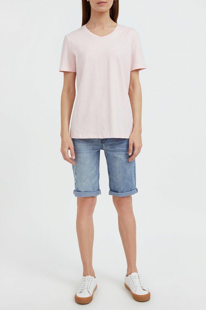 Базовая футболка с V-образным вырезом, Модель BAS-10011, Фото №2