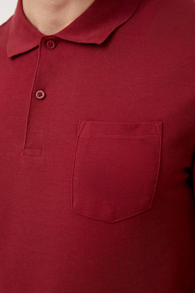 Базовый мужской лонгслив с отложным воротником, Модель BAS-20029, Фото №6
