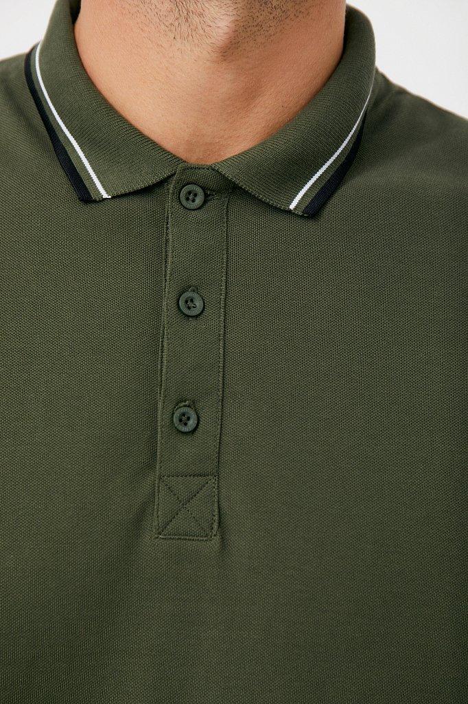 Базовое мужское поло прямого силуэта, Модель BAS-20027, Фото №5