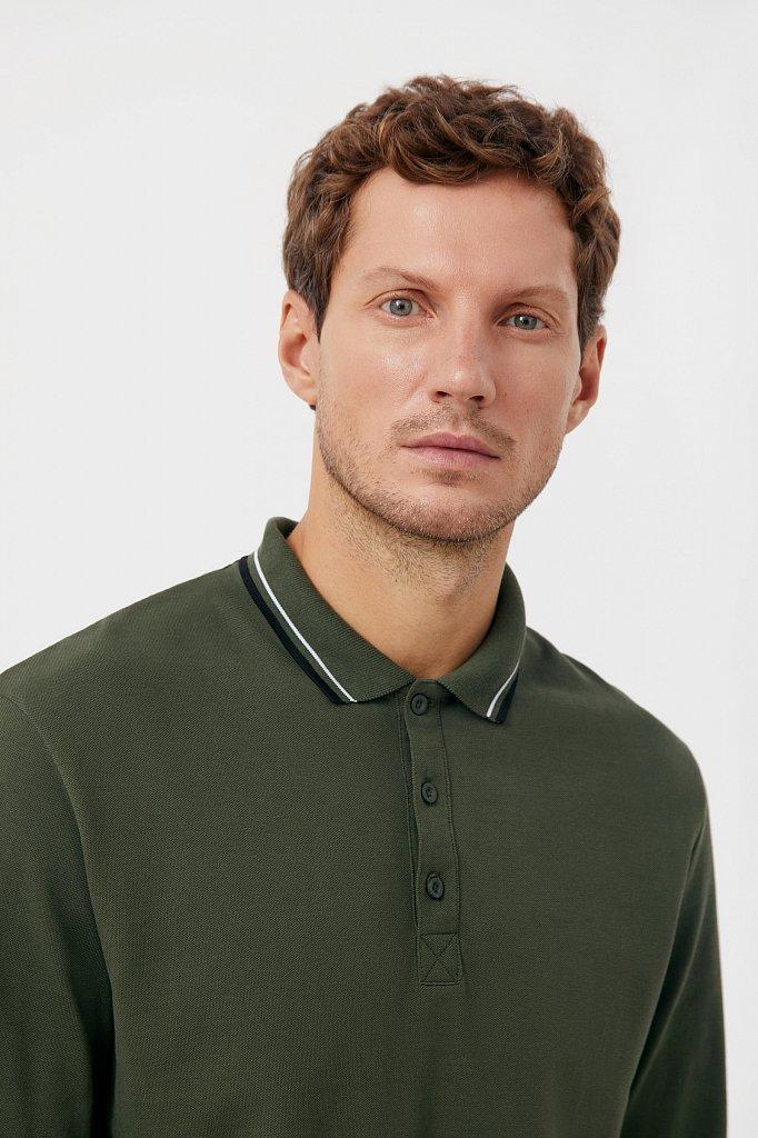 Базовое мужское поло прямого силуэта, Модель BAS-20027, Фото №6