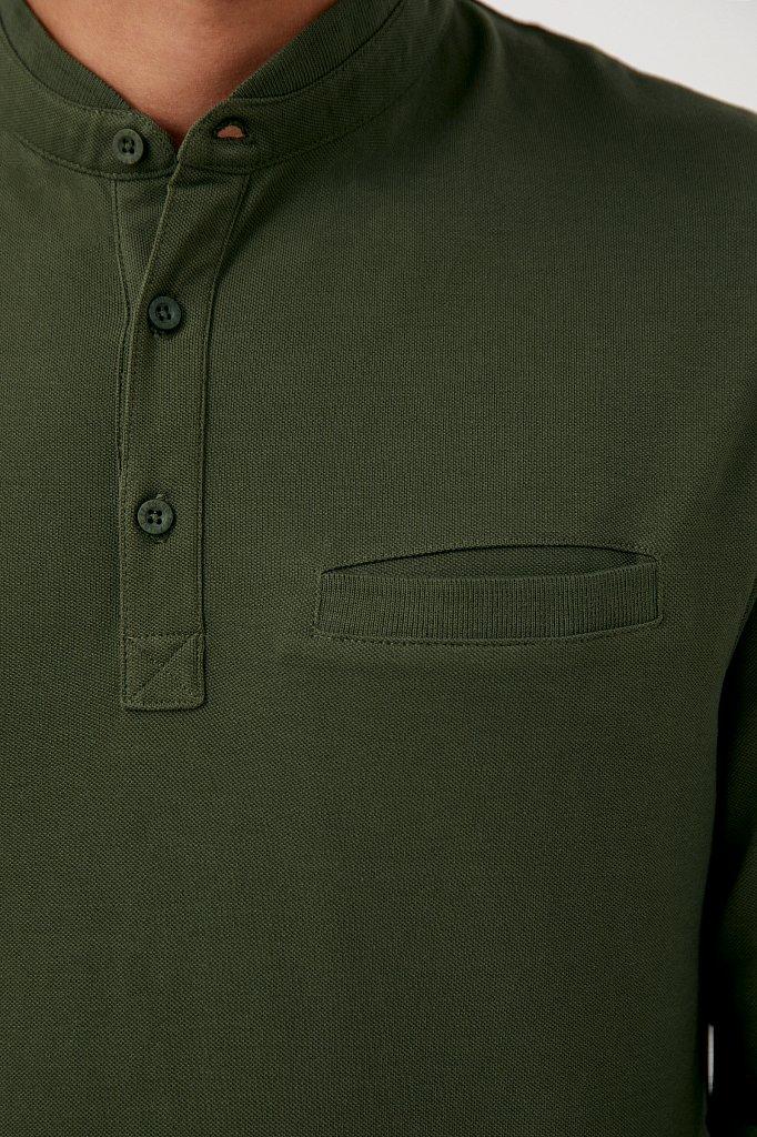 Базовый мужской лонгслив из натурального хлопка, Модель BAS-20028, Фото №6