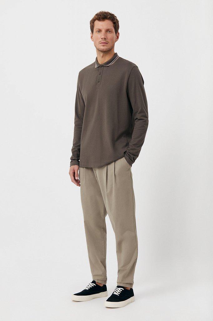 Базовое мужское поло прямого силуэта, Модель BAS-20027, Фото №2