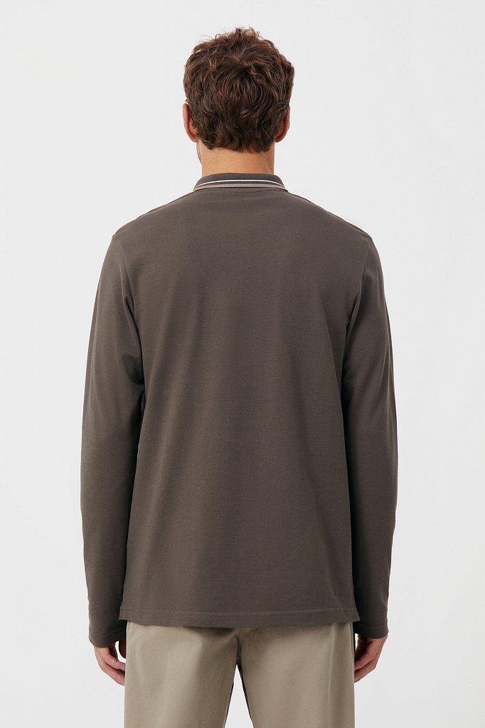 Базовое мужское поло прямого силуэта, Модель BAS-20027, Фото №4