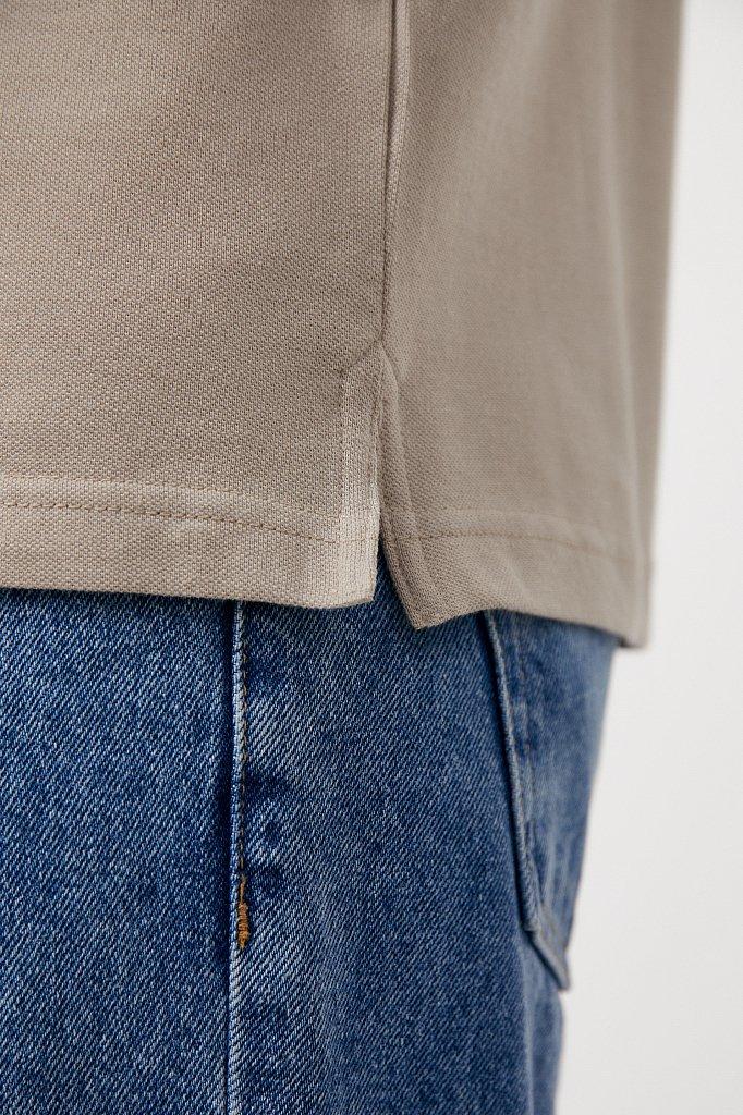 Базовый мужской лонгслив из натурального хлопка, Модель BAS-20028, Фото №5