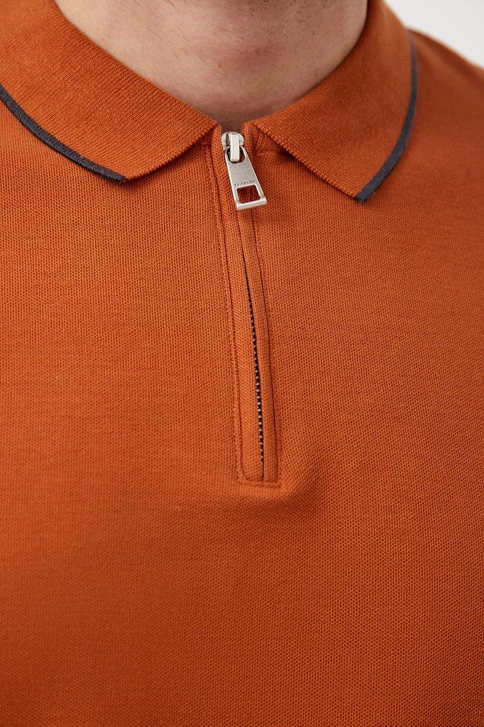 Поло мужское на молнии с длинным рукавом, Модель BAS-20030, Фото №6