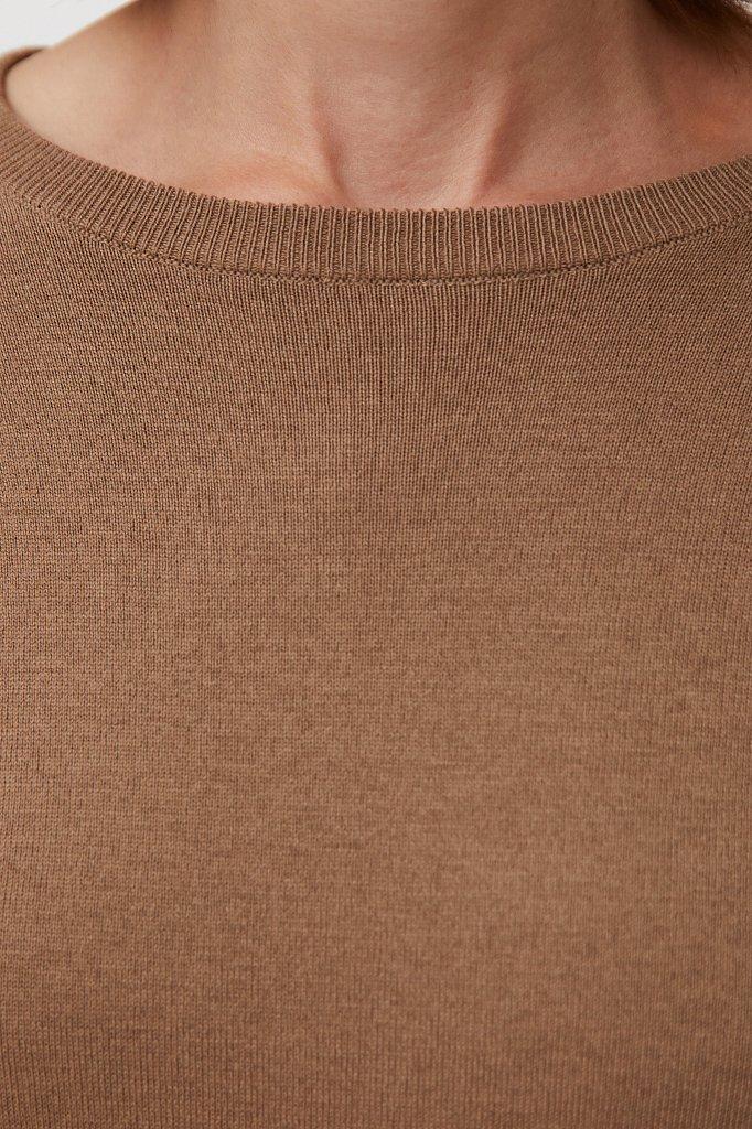 Базовый женский джемпер прямого силуэта с шерстью, Модель BAS-10105, Фото №5