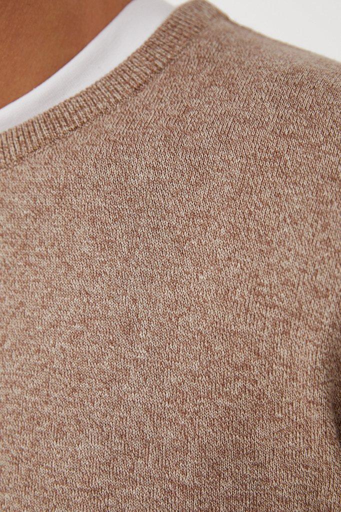 Базовый мужской джемпер прямого силуэта, Модель BAS-20100, Фото №5