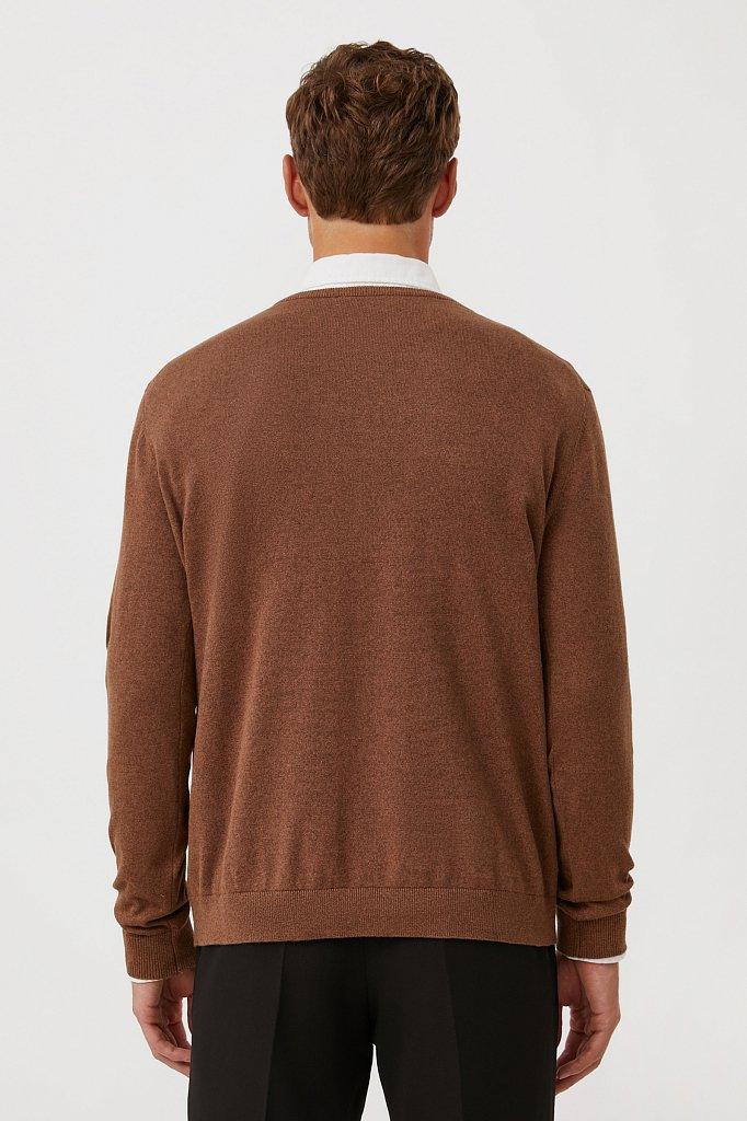 Базовый мужской пуловер прямого силуэта, Модель BAS-20101, Фото №4