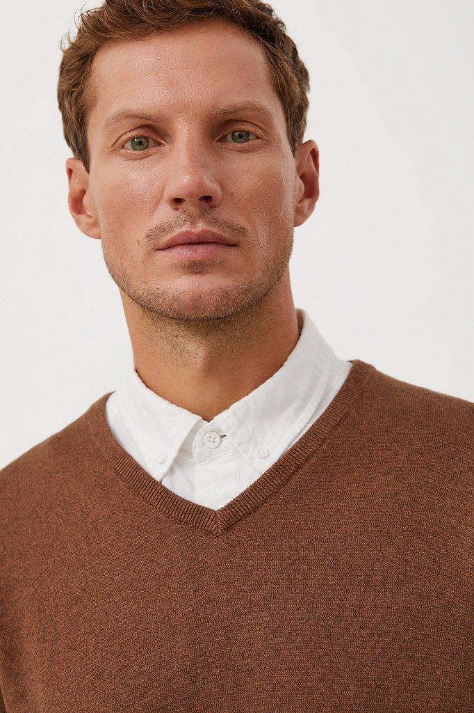 Базовый мужской пуловер прямого силуэта, Модель BAS-20101, Фото №6