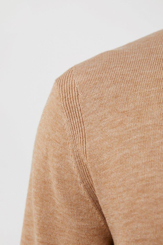 Трикотажная мужская водолазка прямого силуэта, Модель BAS-20105, Фото №5