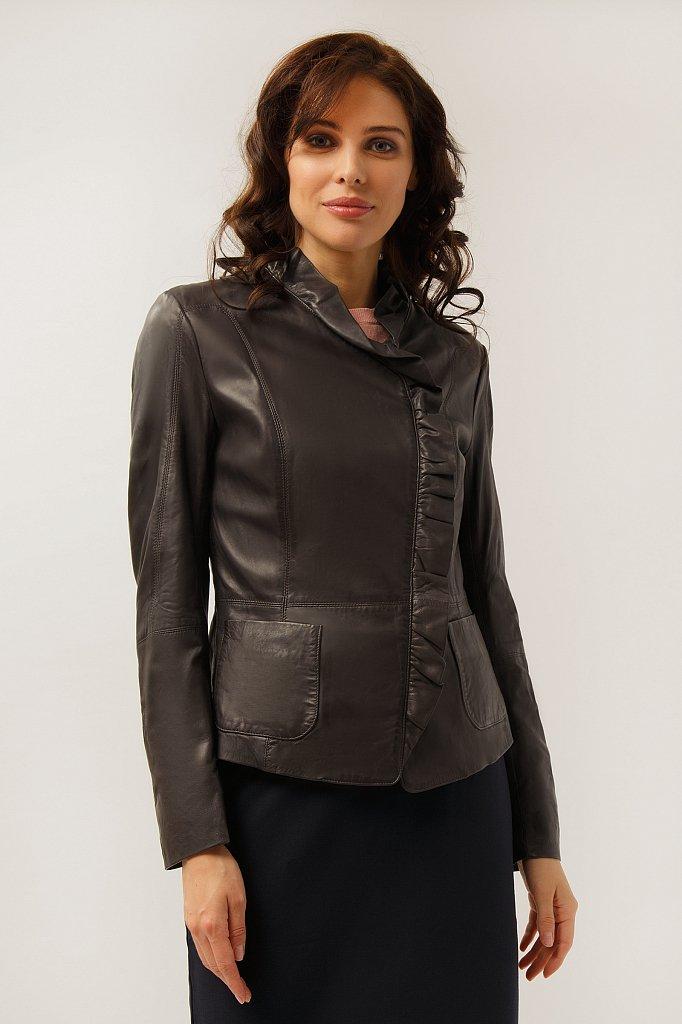 Куртка кожаная женская, Модель CB19-17010, Фото №1