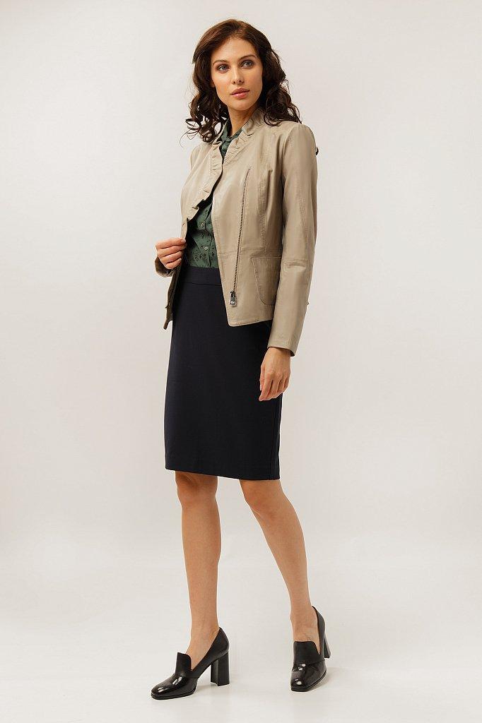 Куртка кожаная женская, Модель CB19-17010, Фото №2