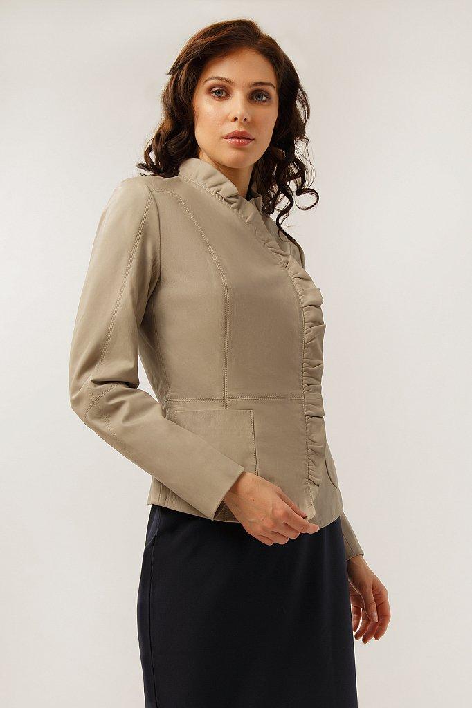 Куртка кожаная женская, Модель CB19-17010, Фото №3