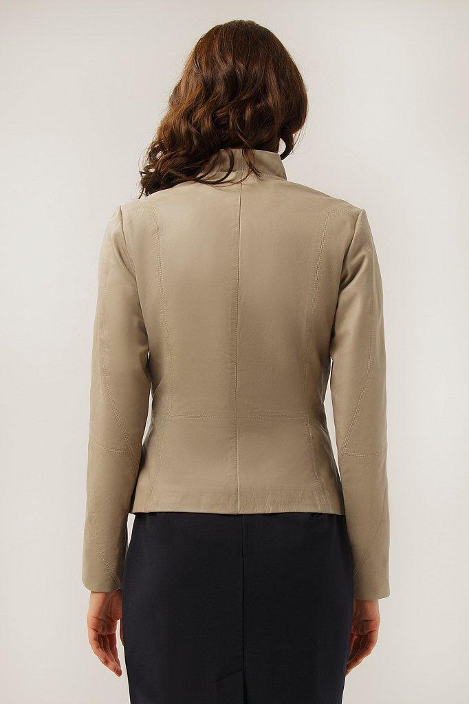 Куртка кожаная женская, Модель CB19-17010, Фото №4