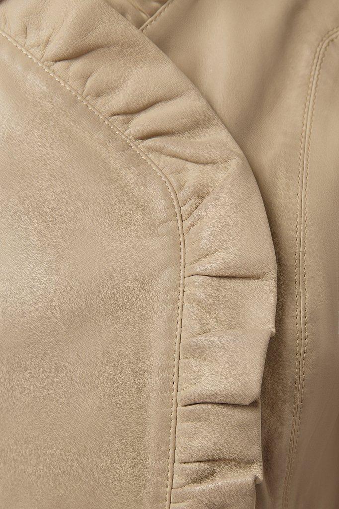 Куртка кожаная женская, Модель CB19-17010, Фото №5