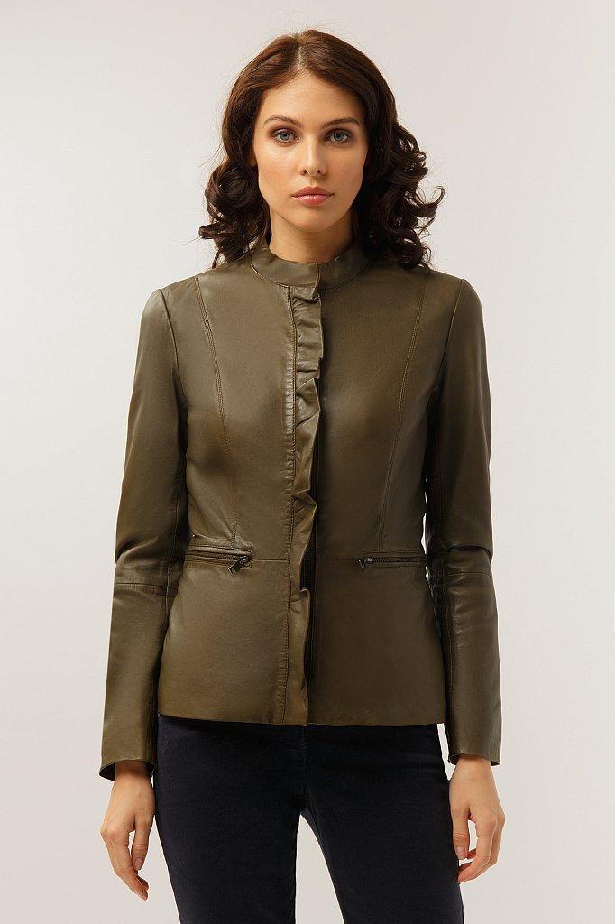Куртка кожаная женская, Модель CB19-17011, Фото №1