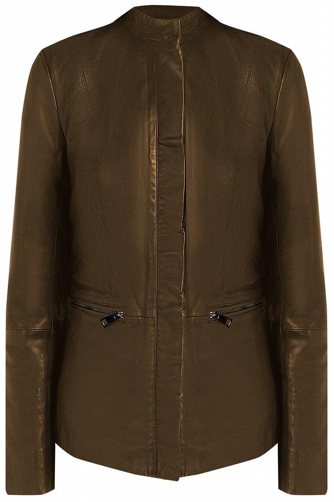 Куртка кожаная женская, Модель CB19-17011, Фото №6