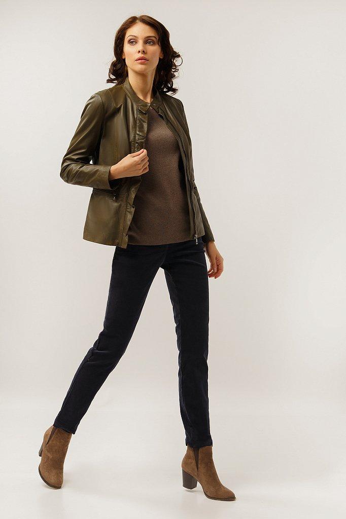Куртка кожаная женская, Модель CB19-17011, Фото №2