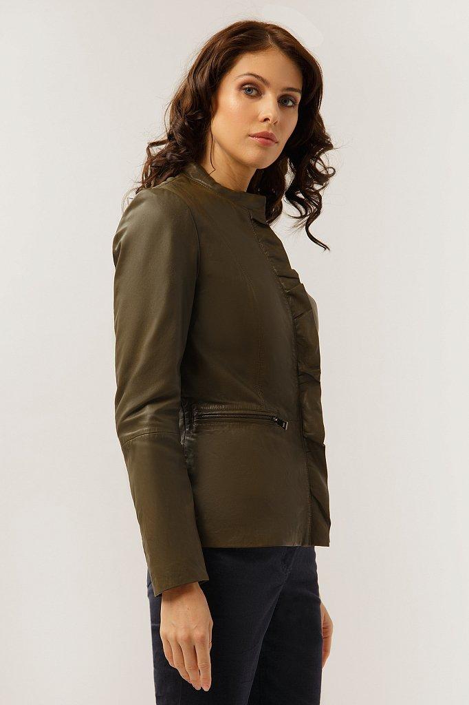 Куртка кожаная женская, Модель CB19-17011, Фото №3