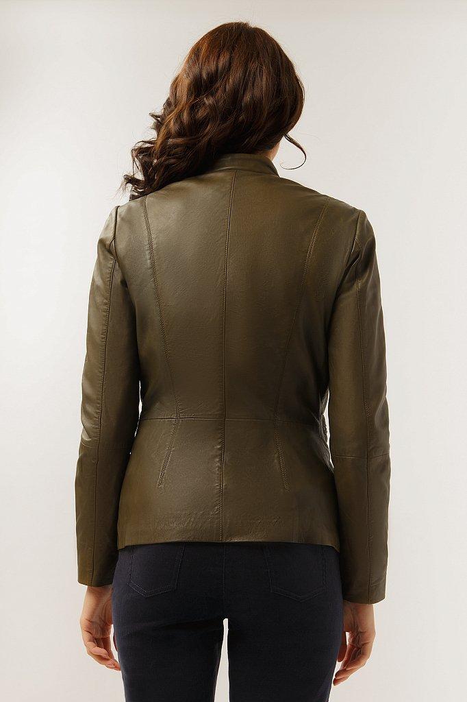 Куртка кожаная женская, Модель CB19-17011, Фото №4