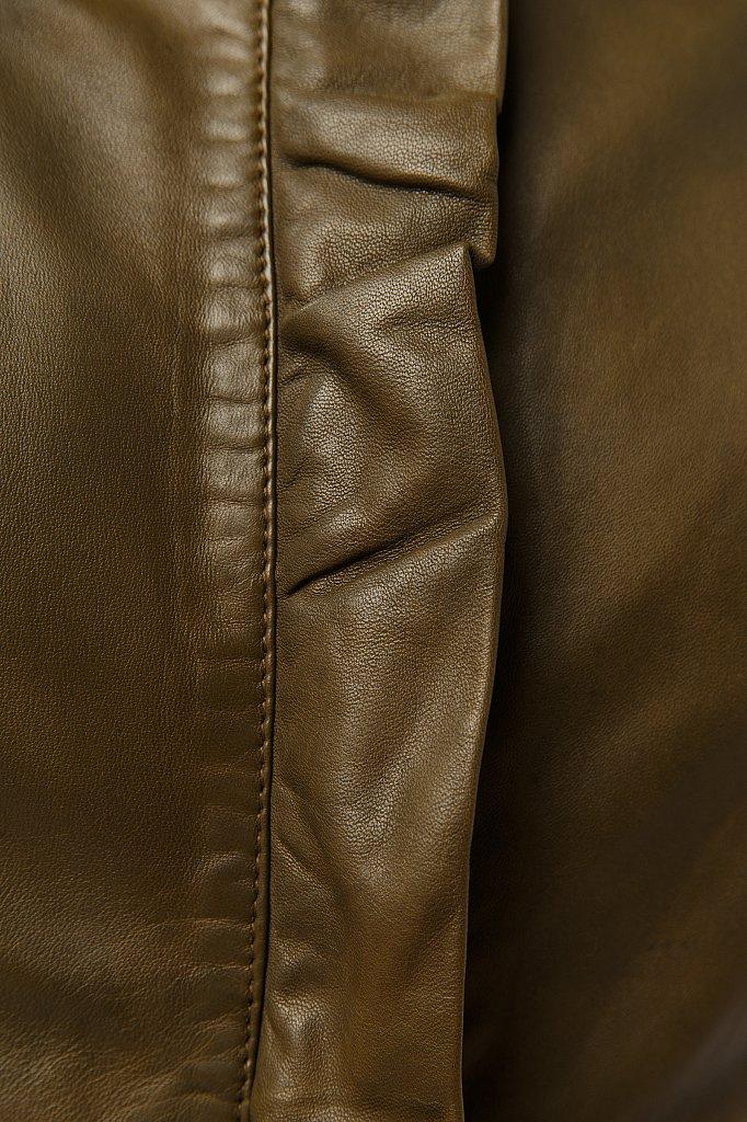 Куртка кожаная женская, Модель CB19-17011, Фото №5