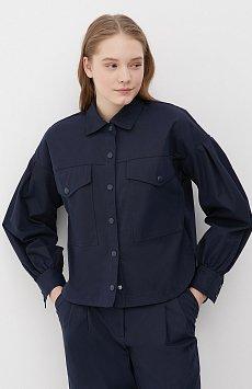 Женская рубашка c объемными рукавами и карманами FAB11009