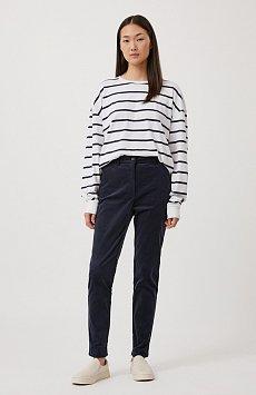 Вельветовые приталенные женские брюки FAB110184