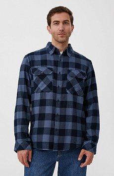 Базовая мужская рубашка в крупную клетку оверсайз FAB21057