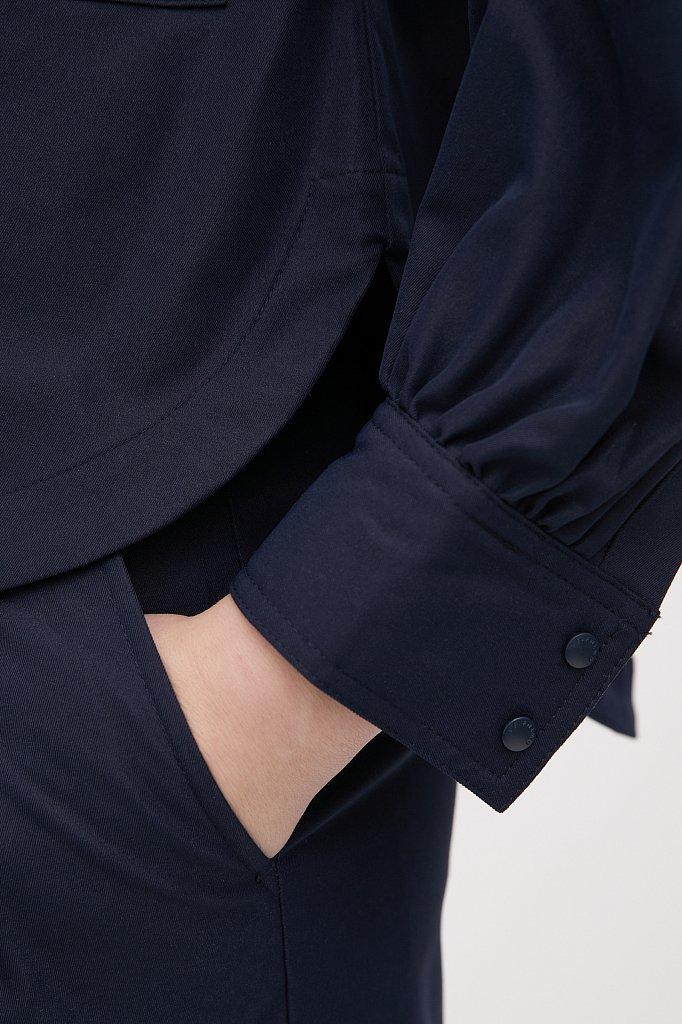 Женская рубашка c объемными рукавами и карманами, Модель FAB11009, Фото №6