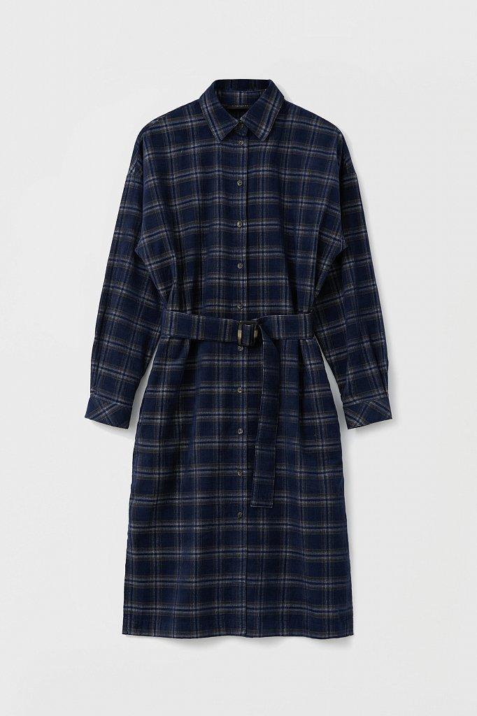 Вельветовое платье-рубашка, Модель FAB110116, Фото №8