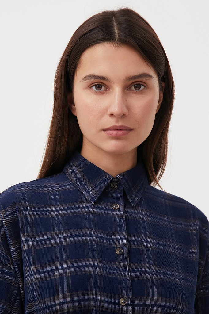 Вельветовое платье-рубашка, Модель FAB110116, Фото №7