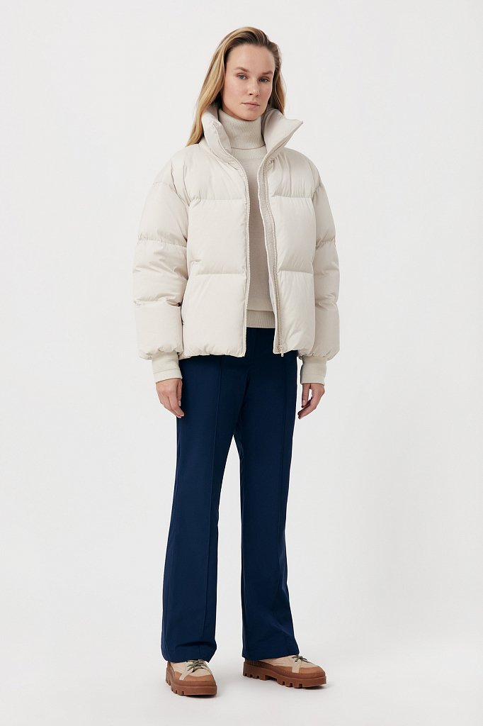Утепленные женские брюки с поясом на резинке, Модель FAB110174, Фото №1