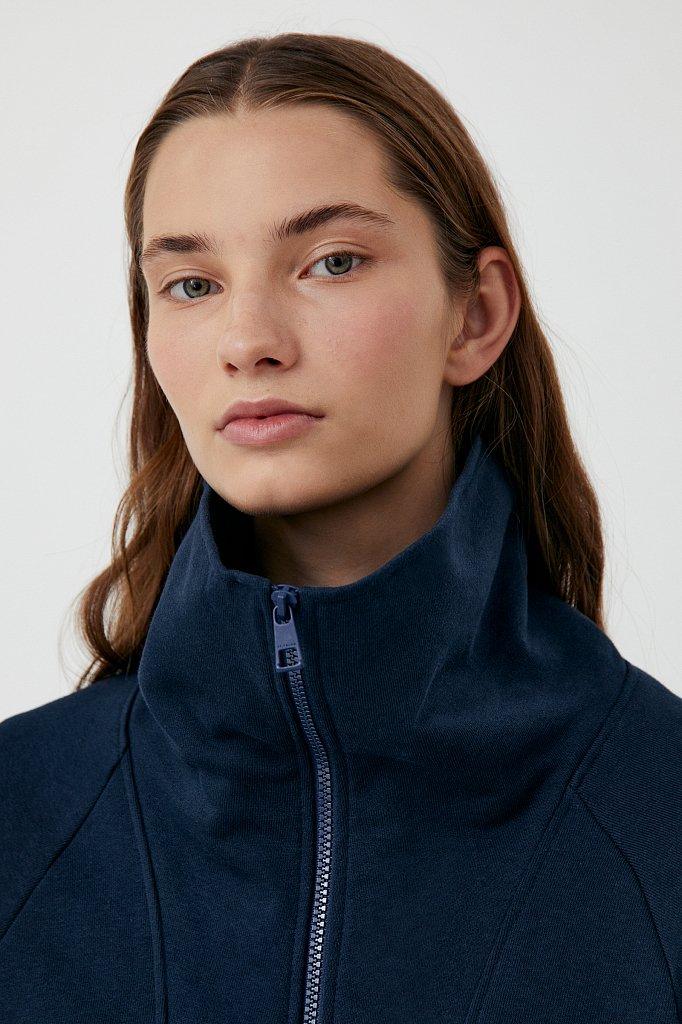 Толстовка женская на молнии с карманами, Модель FAB110176, Фото №5
