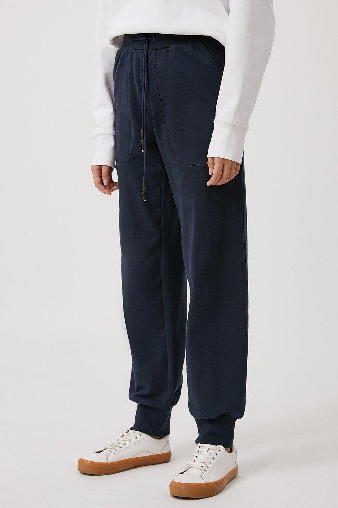 Женские брюки на резинке с манжетами по низу, Модель FAB110178, Фото №3