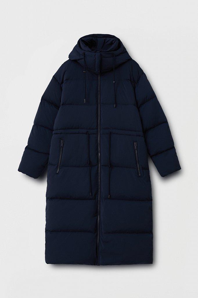 Пуховое женское пальто свободного кроя, Модель FAB110183, Фото №8
