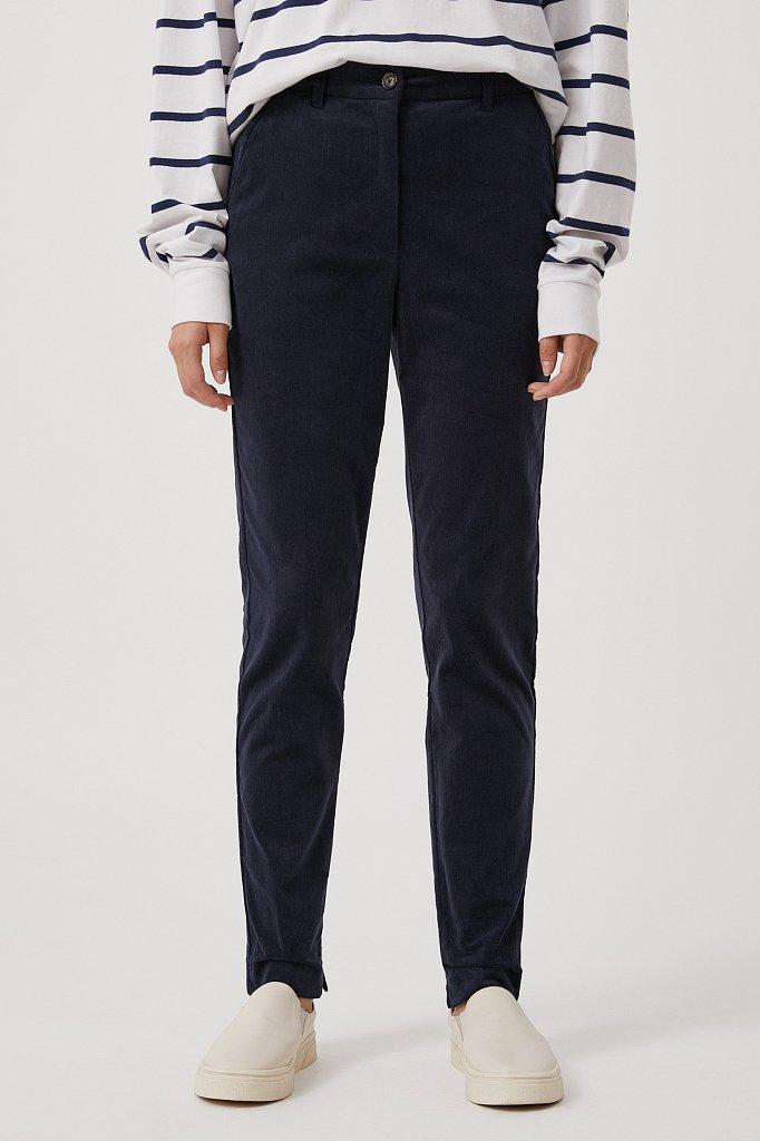 Вельветовые зауженные женские брюки, Модель FAB110184, Фото №2